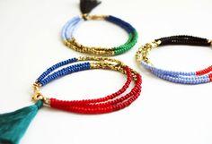 Beaded Friendship Bracelet  Tassel Bracelet  by feltlikepaper, $27.00