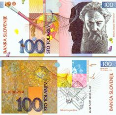 Slovenia 100 Tolarjev (R. Bank Account Balance, Money For Nothing, Money Notes, World Coins, European History, Coin Collecting, Pictures, Culture, Country