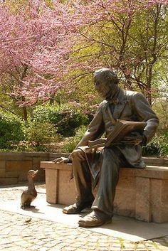 Hans Christian Andersen in New York City's Central Park