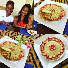 Transformation Vacation Breakfast Raw Advocado pie: with Bashea and Ade looking beautiful and ready to eat: #blessed #rawvegan #goodfood #sholasays #energy4lifecoach
