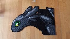 Toothless - How to train your dragon perler bead sprite by iJLedge