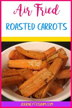 Easy yummy air fried carrots. A simple vegetarian dish right out of your air fryer in less time and effort. A perfect healthy side dish for dinner. #airyfryer #healthy #food