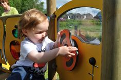 Interactive play panels let children's imaginations run wild #play #learning #nurseries