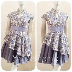 Instagram @xaverana Line ID @xaverana (cantumkan @ nya) Contact us for further information Blouse Batik, Batik Dress, Royal Dresses, Gala Dresses, Batik Fashion, Girl Fashion, Fashion Design, Dress Brukat, Mother Daughter Fashion