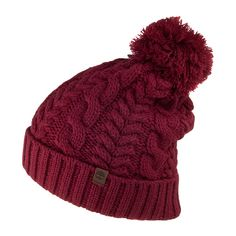Buy the Timberland Hats Cable Watch Cap Bobble Hat - Red at Village Hats.  The 33817117007b