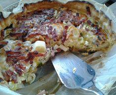Recette tarte poireau, lardons roquefort par Ellooo - recette de la catégorie Tartes et tourtes salées, pizzas