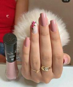 trendy Ideas for nails sencillas largas Light Pink Nail Designs, Light Pink Nails, Perfect Nails, Gorgeous Nails, Stylish Nails, Trendy Nails, Rose Nails, Manicure E Pedicure, Holographic Nails
