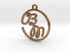 B & M Script Monogram Pendant by Jilub