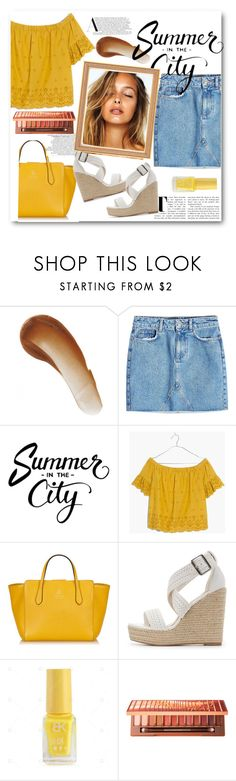 """""""Summer style #6"""" by fuzzy-peaches ❤ liked on Polyvore featuring This Works, Anine Bing, Madewell, Gucci, Charlotte Russe and Urban Decay"""