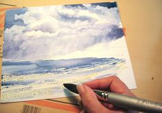 Step-by-step how to paint stormy seascape