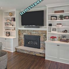 8 Handsome Tips: Living Room Remodel Ideas Apartment Therapy living room remodel with fireplace decor.Livingroom Remodel Foyers living room remodel on a budget how to decorate.Living Room Remodel On A Budget Life. Fireplace With Cabinets, Bookshelves Around Fireplace, Built In Around Fireplace, Fireplace Built Ins, Home Fireplace, Fireplace Remodel, Living Room With Fireplace, Fireplace Design, Fireplace Ideas