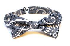 Repurposed Bandana PreTied Bow Tie by BrooklynBowtied on Etsy, $38.00