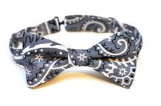 Repurposed Bandana  PreTied Bow Tie by BrooklynBowtied on Etsy, $38.00