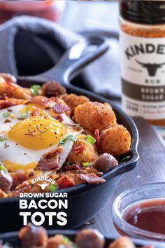 Bacon Recipes, Brunch Recipes, Cooking Recipes, Breakfast Dishes, Breakfast Recipes, Brown Sugar Bacon, Cast Iron Recipes, Food Dishes, Side Dishes