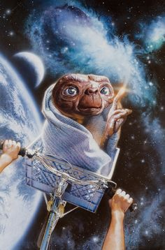 Drew Struzan, E.T. A Character That doesn't need to be Announce Everybody knows who he is!