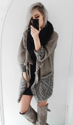 All cozied up in The softest sweater ever