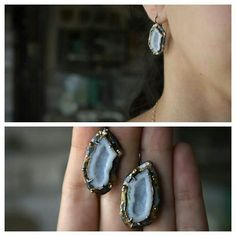 Organic Tabasco Geode Earrings by ATELIER Gaby Marcos