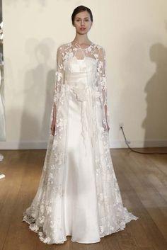 Alberta Ferretti Bridal Spring 2015 [Photo by Thomas Iannaccone] lace cloak gorgeous 2015 Wedding Dresses, Wedding Gowns, Bridesmaid Dresses, Lace Wedding, Wedding Cape, Wedding Blog, Gorgeous Wedding Dress, Bridal Beauty, Looks Vintage