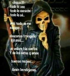 Mi niña blanka Grim Reaper Art, Grim Reaper Tattoo, Santa Muerte Prayer, English Prayer, Day Of The Dead Artwork, Life Hacks Websites, Man Praying, Mom Birthday Quotes, Catholic Pictures