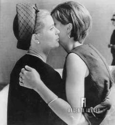 Princess Grace of Monaco, the former Grace Kelly of Philadelphia, embraces her niece, Mary Lee Jones outside funeral home here 8/31 after arriving for services for Aunt Flossie,