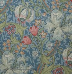 William Morris Golden Lily Tapet Lily Wallpaper, New Home Designs, Hallway Decorating, William Morris, Cottage Style, Leicester, Decoupage, New Homes, Hand Painted