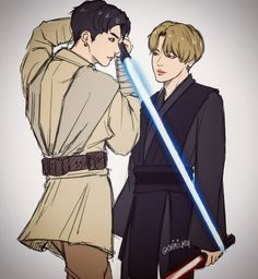 Jikook star wars version hell yes. Although I think it should be reversed? Jung Kook, Namjin, Bts Memes, Pop Kpop, Bts Young Forever, Wattpad, Sith Lord, Bts Drawings, Bts Chibi