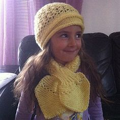 Écharpe feuille point péruvien tricot