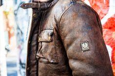 Belstaff Brad shearling leather jacket