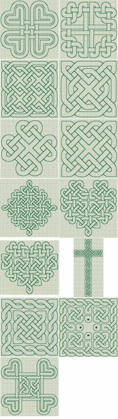 Celtic Knotwork RW Series 01 [Series : The Country Needle Embroidery Designs® Celtic Symbols, Celtic Art, Celtic Knots, Embroidery Patterns, Quilt Patterns, Stitch Patterns, Doodle Patterns, Celtic Patterns, Celtic Designs