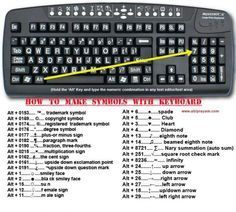 Tech Discover How to make symbols with a keyboard. good to know! via Humor Train Keyboard Symbols Things To Know Good Things 1000 Lifehacks Keyboard Shortcuts Alt Shortcuts Useful Life Hacks Best Life Hacks Daily Life Hacks Keyboard Symbols, Things To Know, Good Things, 1000 Lifehacks, Keyboard Shortcuts, Alt Shortcuts, Useful Life Hacks, Awesome Life Hacks, Cool Hacks