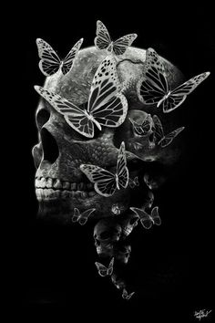 Skulls and Butterflies all the way down.