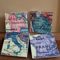 Items similar to Your Favorite Places Custom Map Coasters on Stone, Set of 4 on Etsy Gifts For Wedding Party, Wedding Favors, Wedding Ideas, Party Gifts, Wedding Stuff, Map Coasters, Custom Coasters, Ajaccio Corsica, Coaster Crafts
