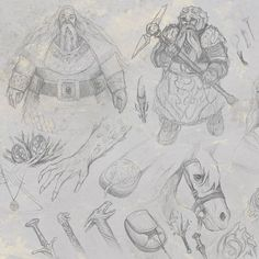 © Mateusz Rasiński Sketch Set Compilation 01'  characterdesign, dwarf