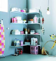 No importa el espacio o simplicidad es sólo organizar, una muestra que no hay excusas para organizar.