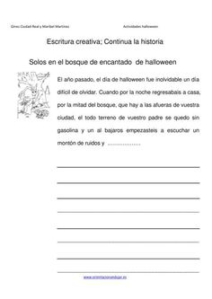 Escritura creativa continua la historia  el bosque de  Halloween IMAGEN Spanish Classroom, Teaching Spanish, Spanish Basics, Language Quotes, Classroom Language, Sixth Grade, Writing Activities, Conte, Writing Prompts