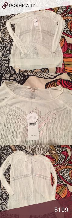 NWT Ella moss sweater NWT ELLA MOSS sweater. Perfect to transition from summer to fall in this lightweight fashionable piece Ella Moss Sweaters Crew & Scoop Necks
