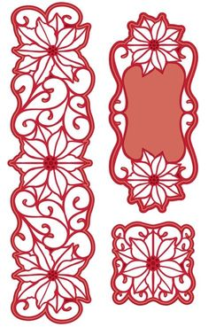 Sue Wilson Designs - Die - Festive Collection - Poinsettia Corner, Border and Tag,$24.99