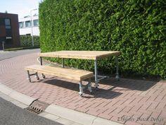 Nice Plo New York Gartentisch Edelstahl Teak xcm Metall Holztische Tische Gartenm bel von Garten u Freizeit Div Pinterest Teak