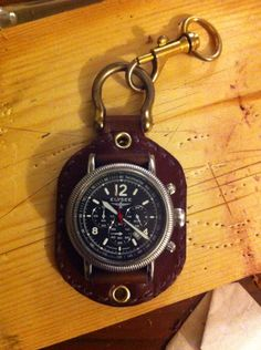 Pocket watch.. Leather fob