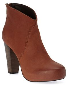 "Some of you have to get in on this: STEVEN by Steve Madden ""Regain"" Leather Ankle Boot"