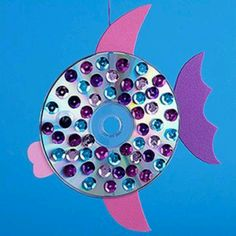 Cd fish-one of the crafts they did at the aquarium