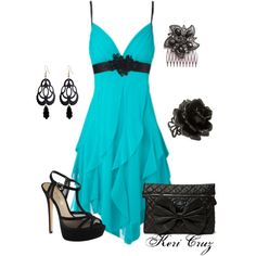 """""""Teal Beauty""""  If only I had any occasion to wear this..."""