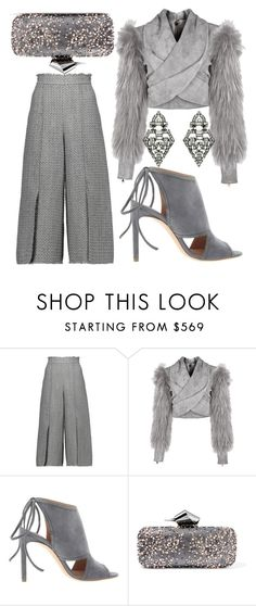 Gray Days by fashionforwarded on Polyvore featuring Balmain, Proenza Schouler, BOSS Hugo Boss, Jimmy Choo and Ben-Amun