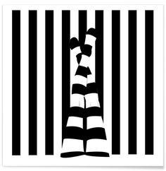 JUNIQUE Striping legs als Premium Poster
