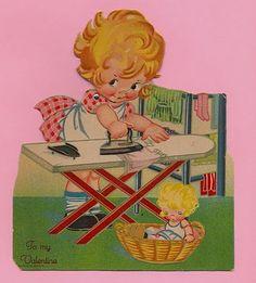 vintage ironing valentine