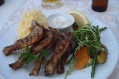 grilled lamb chops, theodosi restaurant, chania, crete