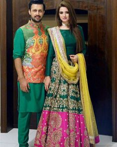 #prideofpakistan #atifaslam #and #wife #in #alixeeshan #ensembles #vibrant #radiant #festive #colourful #traditional #pakistaniweddings