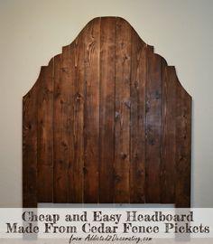 DIY headboard made from cedar fence pickets