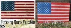 DIY American Flag Decor - Pottery Barn Knock Off