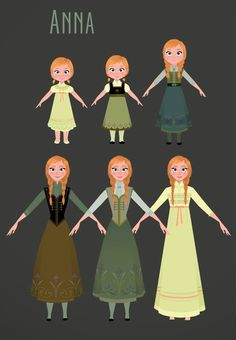 Anna - Frozen concept art
